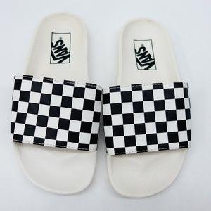 VANS Womens Checkerboard Slide Sandals